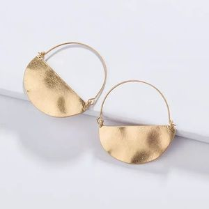 Anthro Rylan Crescent Hoop Earrings